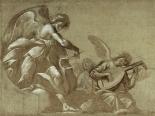 Angel Musicians (recto); Head Studies (verso)