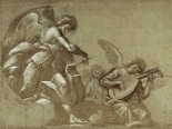Angel Musicians (recto); Head Studies (verso)
