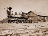 Wyoming Station, Engine 23 on Main Track, May 1868