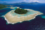 Coral reefs and islands, Kimbe Bay, Papua New Guinea