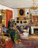 An Interior of a Sitting Room