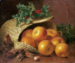 Still Life With Apples, Hazelnuts and Holly