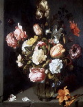 Tulips and Peonies in a Vase
