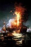 Burning of the Frigate Philadelphia Tripoli Harbor, Feb 16, 1804