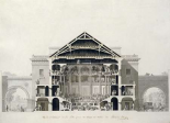 Cross-Section of The Front Section of The Theatre