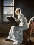 Young Woman Drawing 1801