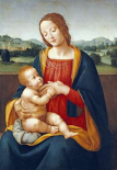 Madonna and Child Before a Landscape