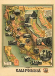 The Unique Map of California, 1885