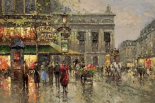 Vintage Parisian Street Scene