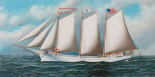 Three Masted Schooner Andrew C. Pierce