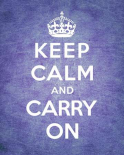Keep Calm and Carry On - Vintage Purple
