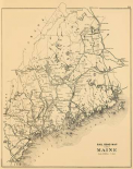 Railroad map of Maine, 1894