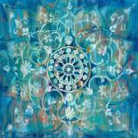Mandala in Blue I Sq
