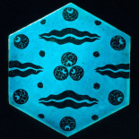 Blue Hexagonal Tile