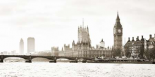 View of the Houses of Parliament and Westminster Bridge London