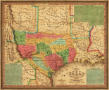 New map of Texas : with the contiguous American and Mexican states, 1835