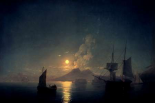 The Bay of Naples by Moonlight, 1842