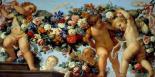 Amours et guirlandes de fleurs I