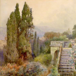Terrace of Villa dEste, Tivoli, 1845