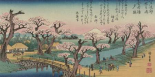Evening Glow at Koganei Bridge 1838