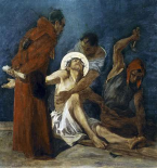 Jesus Is Nailed To The Cross, 11th Station of The Cross