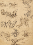 Studies of Christs Loincloth (recto); Studies of Bookbindings and of Christs Loincloth (verso)