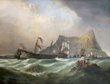 Neptune, Towing The Victory Into Gibraltar Harbour After The Battle of Trafalgar