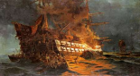The Loss of The Ajax Off Cape Janissary