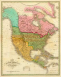 Map of North America Including All The Recent Geographical Discoveries, 1826