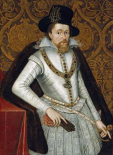 Portrait of King James VI of Scotland, James I of England