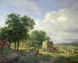 A Wooded Landscape With Haymakers