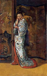 A Japanese Woman In An Interior