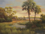 River Cove With Palms I