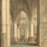 The Choir and North Ambulatory of the Church of Saint Bavo, Haarlem, 1634