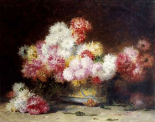Chrysanthemum and Other Flowers In a Bowl