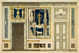 Unexecuted elevation for the Stanza Egizia at the Villa Borghese, ca. 1770-1793