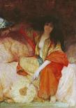A Harem Beauty Holding a Fan