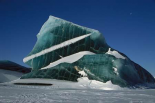 Iceberg trapped in sea ice, Antarctica