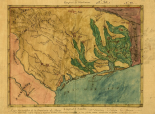 Mapa topografico de la provincia de Texas, ca 1822