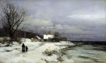 Starnberger Sea Under Snow