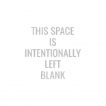 This Space Is Intentionally Left Blank