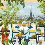 Terrasse fleurie sur la Seine