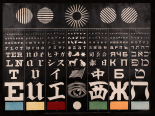 Multi-Lingual Eye Chart, ca. 1907 - Light Background