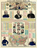 The National Political Chart, Civil War, 1861