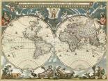 Nova et accuratissima totius terrarum orbis tabula 1664