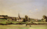 An Extensive Landscape With a Ploughman