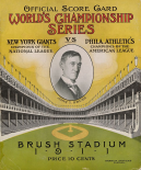 Offical Score Card Worlds Championship Series - New York Giants vs Philadelphia Athletics, 1880