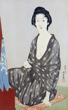 A Beauty In a Black Kimono