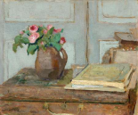 The Artists Paint Box and Moss Roses, 1898