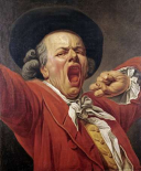 Self-Portrait As a Yawning Man